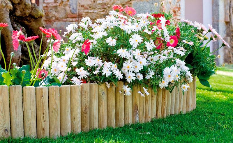 vallas para delimitar jardines