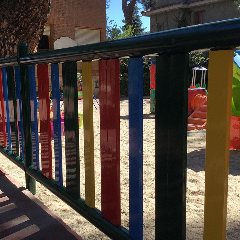 Vallas para parques infantiles y escuelas