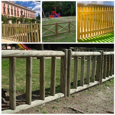 vallas para jardines, parques y viviendas