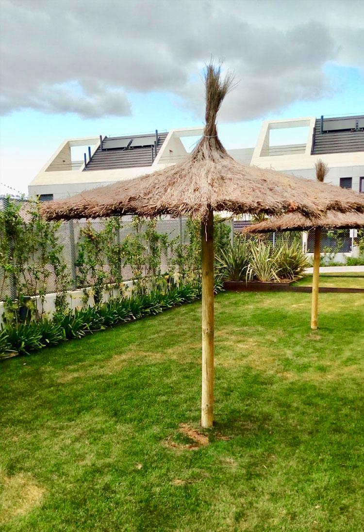 parasol artesanal para piscinas